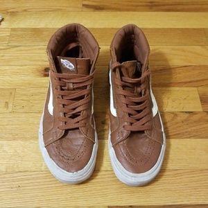Tan Leather Vans